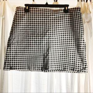 NEW Forever 21 gingham print skirt
